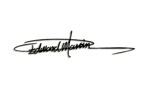 a sample of the signatures by designer e06